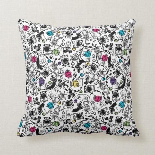 Secret Life of Pets Happy Pattern Throw Pillow