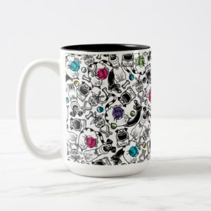 Secret Life of Pets Happy Pattern Two-Tone Coffee Mug