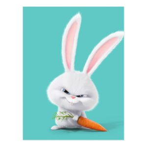 Secret Life of Pets - Insanely Cute Snowball Postcard