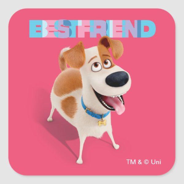Secret Life of Pets - Max   Best Friend Square Sticker