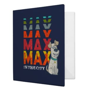 Secret Life of Pets - Max in the City 3 Ring Binder