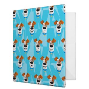 Secret Life of Pets - Max Pattern 3 Ring Binder