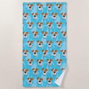 Secret Life of Pets - Max Pattern Beach Towel