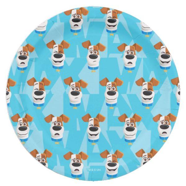 Secret Life of Pets - Max Pattern Paper Plate
