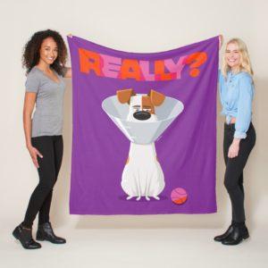Secret Life of Pets - Max   Really? Fleece Blanket