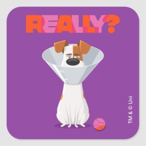 Secret Life of Pets - Max | Really? Square Sticker