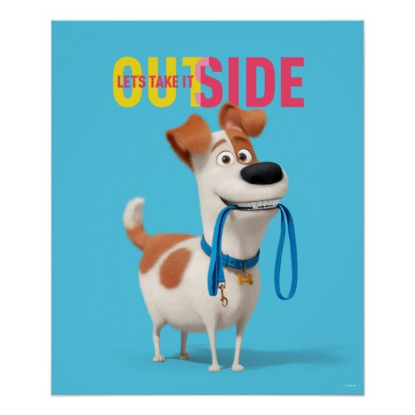Secret Life of Pets - Max | Take it Outside Poster
