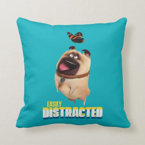 Secret Life of Pets - Mel   Easily Distracted Throw Pillow