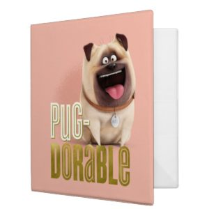 Secret Life of Pets - Mel | Pug-Dorable 3 Ring Binder