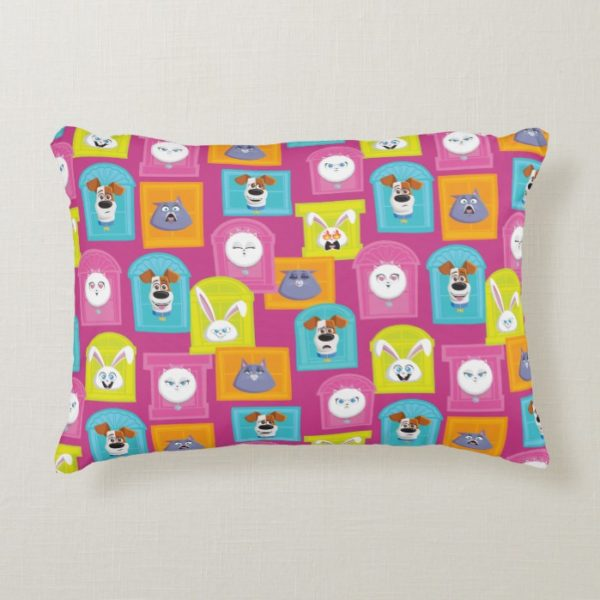 Secret Life of Pets Pattern Accent Pillow