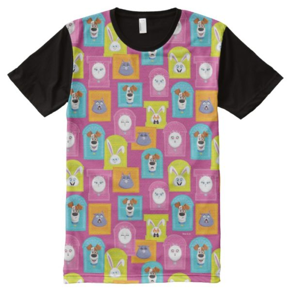 Secret Life of Pets Pattern All-Over-Print Shirt
