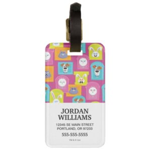 Secret Life of Pets Pattern Bag Tag