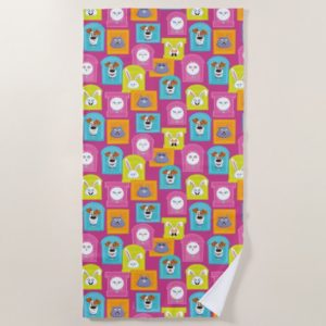 Secret Life of Pets Pattern Beach Towel