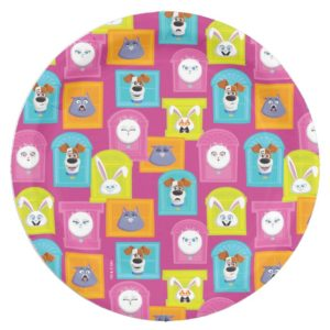 Secret Life of Pets Pattern Paper Plate