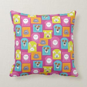 Secret Life of Pets Pattern Throw Pillow