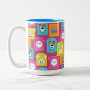 Secret Life of Pets Pattern Two-Tone Coffee Mug