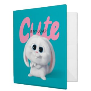 Secret Life of Pets - Snowball | Cute is My Cover 3 Ring Binder