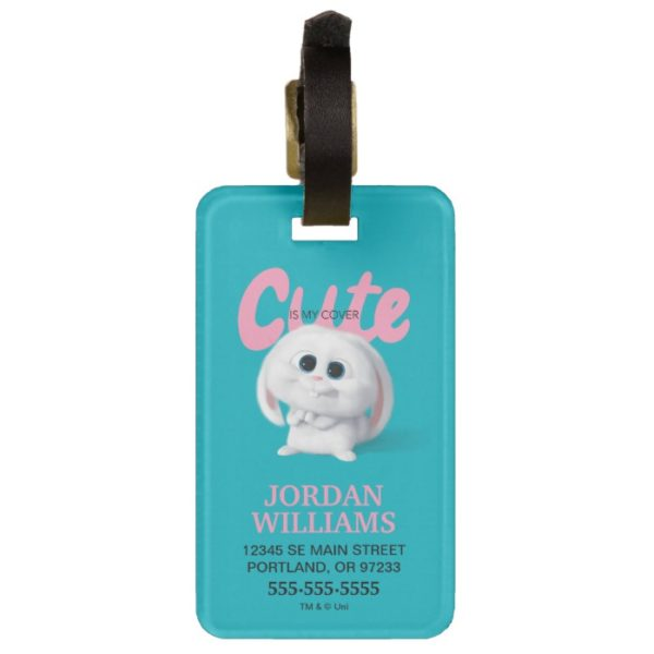 Secret Life of Pets - Snowball   Cute is My Cover Bag Tag