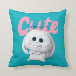 Secret Life of Pets - Snowball   Cute is My Cover Throw Pillow