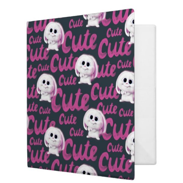 Secret Life of Pets - Snowball Cute Pattern 3 Ring Binder