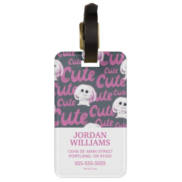Secret Life of Pets - Snowball Cute Pattern Bag Tag