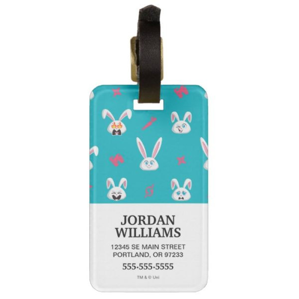 Secret Life of Pets - Snowball Pattern Bag Tag
