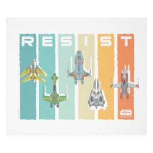 "Star Wars Resistance | Ace Squadron ""Resist"" Fleece Blanket"