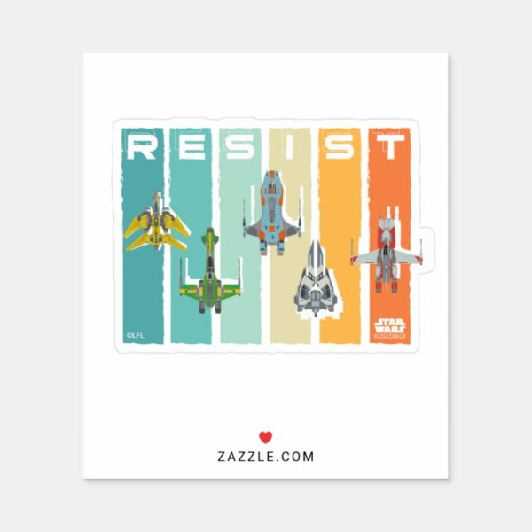 "Star Wars Resistance | Ace Squadron ""Resist"" Sticker"