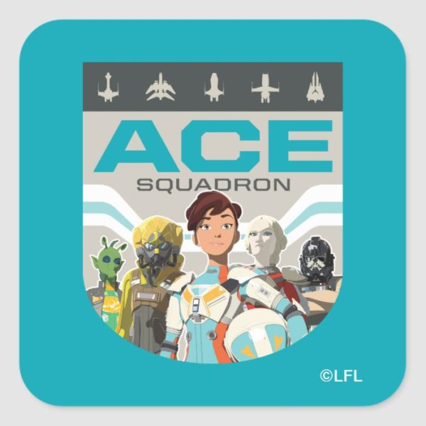 Star Wars Resistance | Ace Squadron Square Sticker