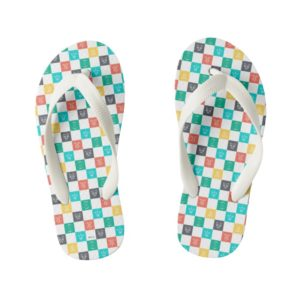 Star Wars Resistance | Aces Icon Checker Pattern Kid's Flip Flops