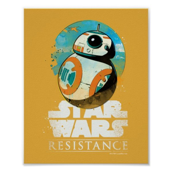 Star Wars Resistance   BB-8 Badge Poster