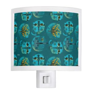 Star Wars Resistance | Teal Ace Fighters Pattern Night Light