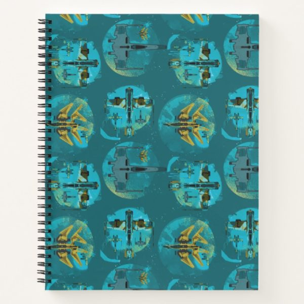 Star Wars Resistance | Teal Ace Fighters Pattern Notebook