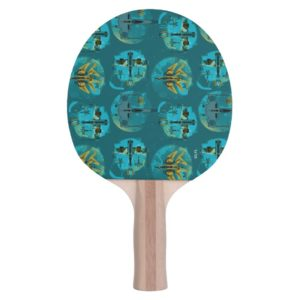 Star Wars Resistance | Teal Ace Fighters Pattern Ping Pong Paddle