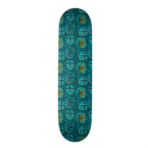 Star Wars Resistance | Teal Ace Fighters Pattern Skateboard