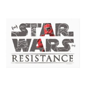 Star Wars Resistance | The First Order Logo Canvas Print