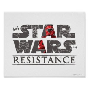 Star Wars Resistance | The First Order Logo Poster