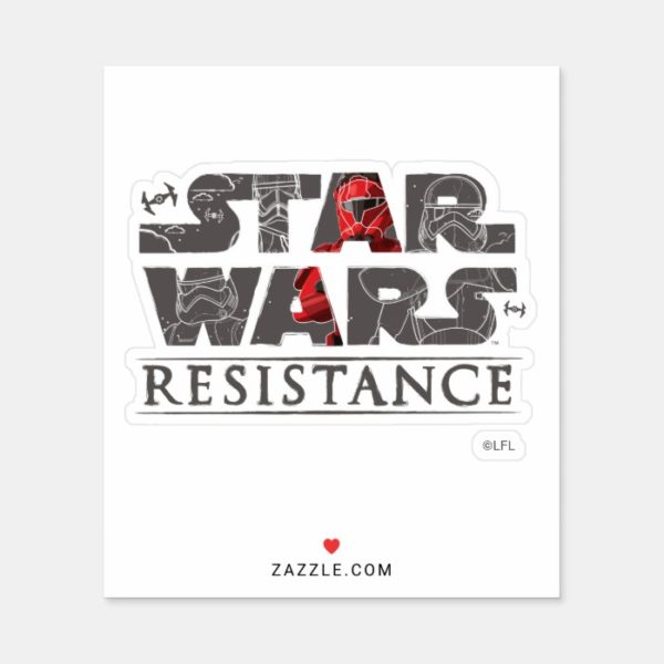Star Wars Resistance   The First Order Logo Sticker