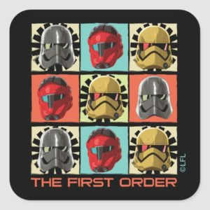 Star Wars Resistance | The First Order Square Sticker
