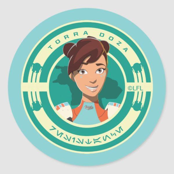 Star Wars Resistance   Torra Doza Classic Round Sticker