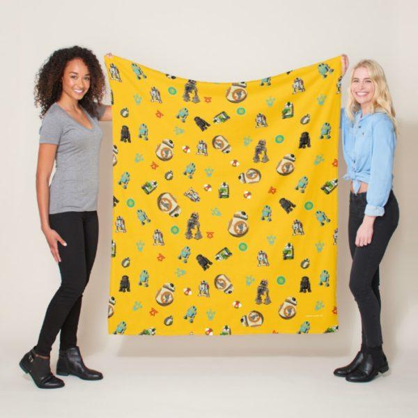 Star Wars Resistance | Yellow Droids Pattern Fleece Blanket