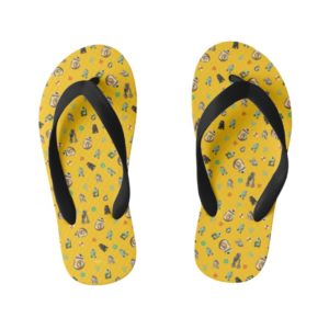 Star Wars Resistance | Yellow Droids Pattern Kid's Flip Flops