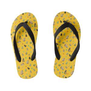 Star Wars Resistance | Yellow Droids Pattern Kid's Flip Flops