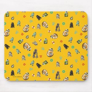 Star Wars Resistance   Yellow Droids Pattern Mouse Pad