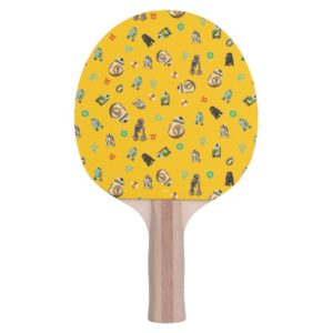 Star Wars Resistance   Yellow Droids Pattern Ping Pong Paddle