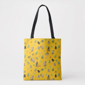 Star Wars Resistance | Yellow Droids Pattern Tote Bag