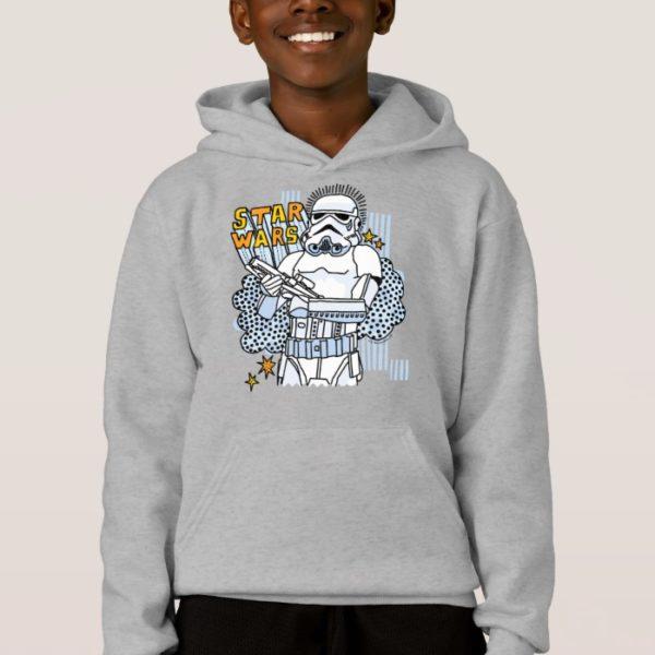 Stormtrooper Doodle Sketch Hoodie