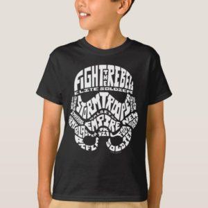 Stormtrooper Helmet Typography T-Shirt