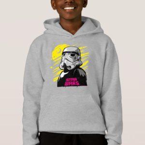 Stormtrooper Neon Death Star Sketch Hoodie