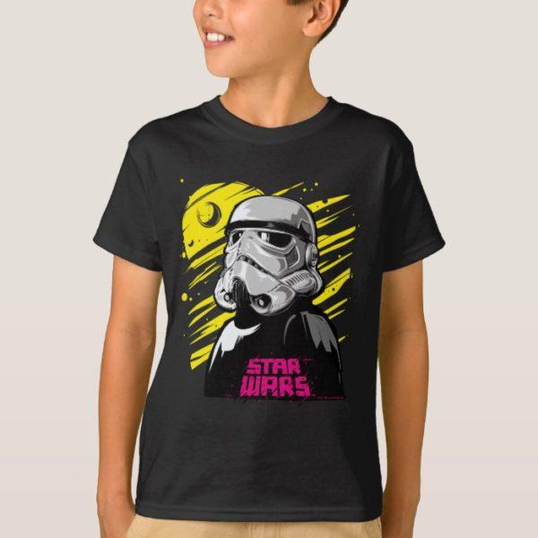 Stormtrooper Neon Death Star Sketch T-Shirt